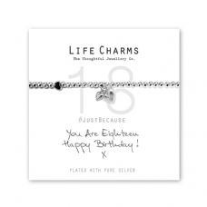 "Life Charms Bracelet - "" You Are EIGHTEEN, Happy Birthday! x "" - Beautifully Gift Boxed"